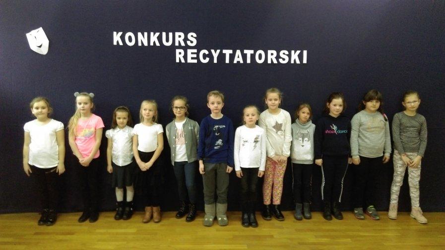 Konkurs recytatorski dla uczniów klas 1 - 3
